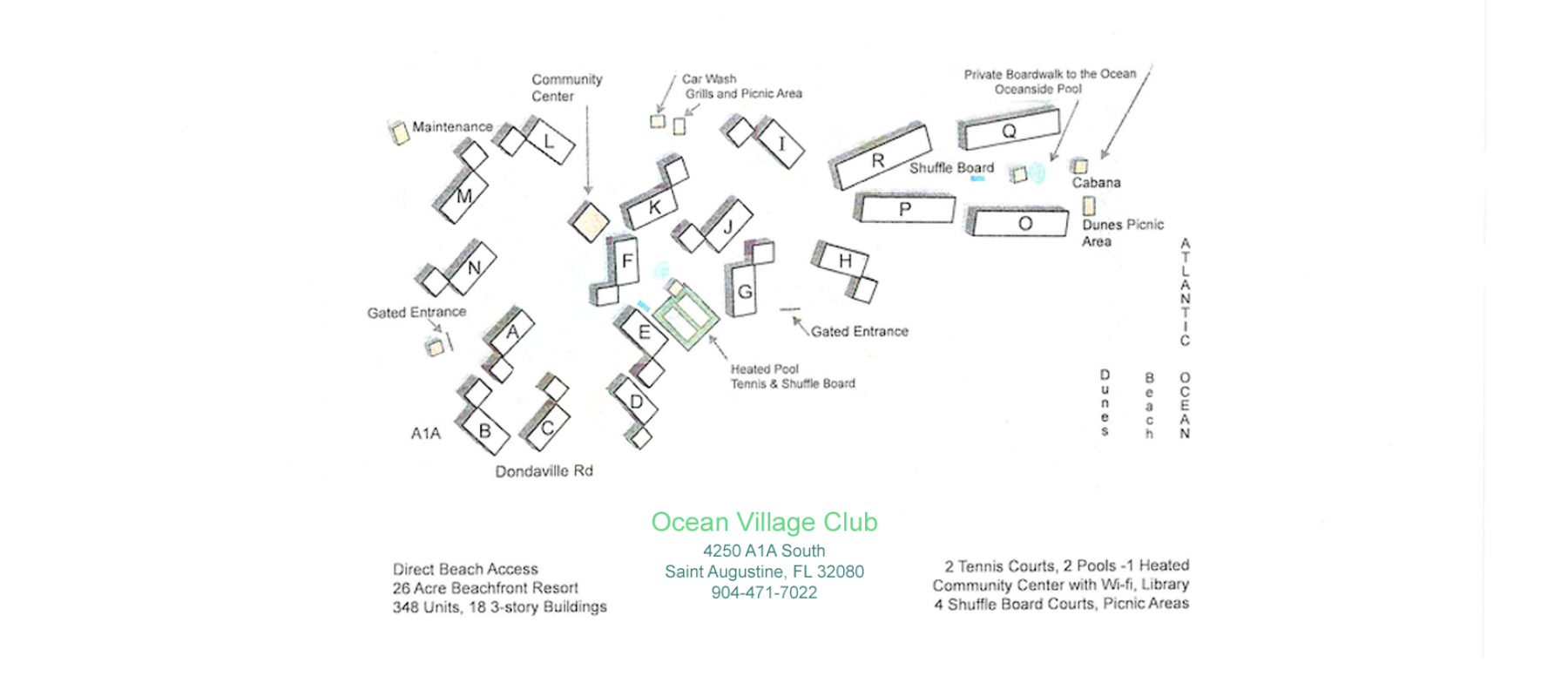 Ocean Village Club Map